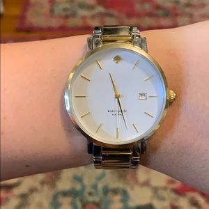 Kate Spade Grammercy silver and gold watch